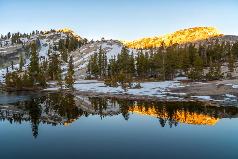 Upper Cathedral Lake Tressider Peak Sunrise - Yosemite-2