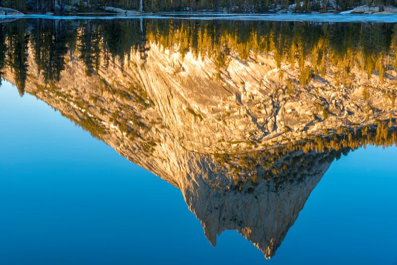 Cathedral Peak Sunset Reflection - Yosemite-7