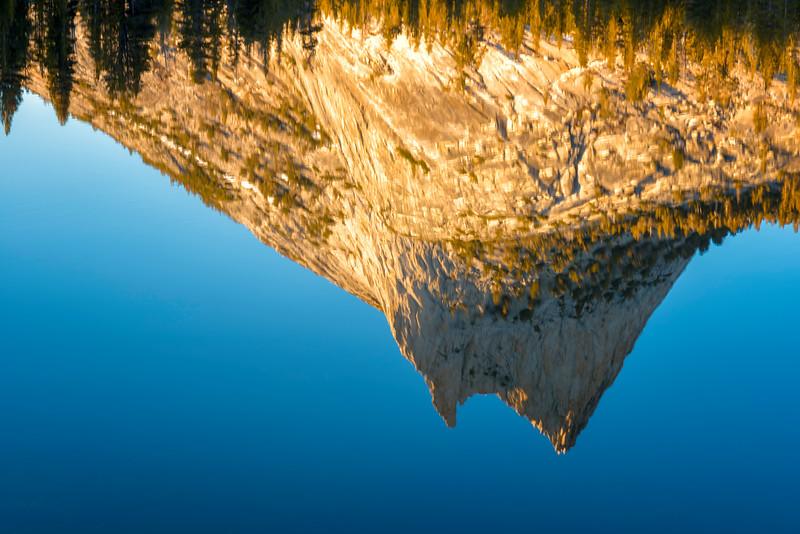 Cathedral Peak Sunset Reflection - Yosemite-8