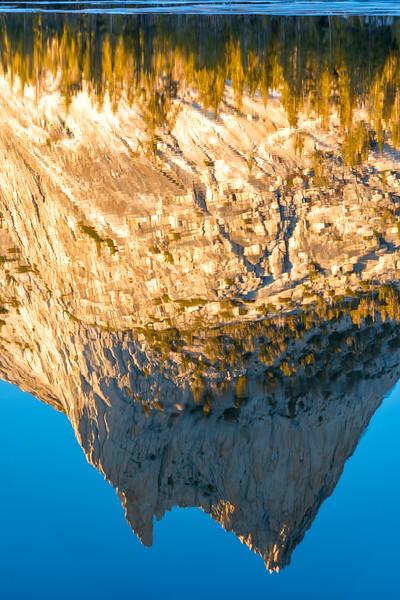 Cathedral Peak Sunset Reflection - Yosemite-9