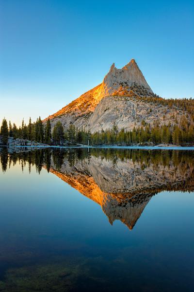 Cathedral Peak Sunset Reflection - Yosemite-11