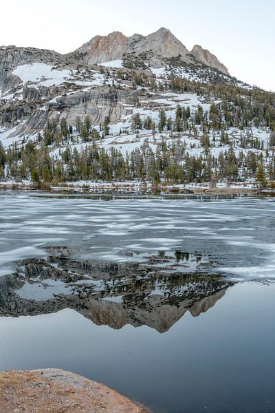 Upper Cathedral Lake Echo Peaks Dawn Reflection - Yosemite-2