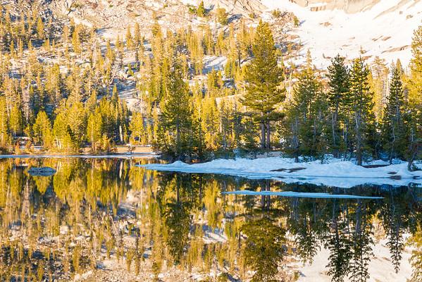 Upper Cathedral Lake Sunset Reflection - Yosemite-2