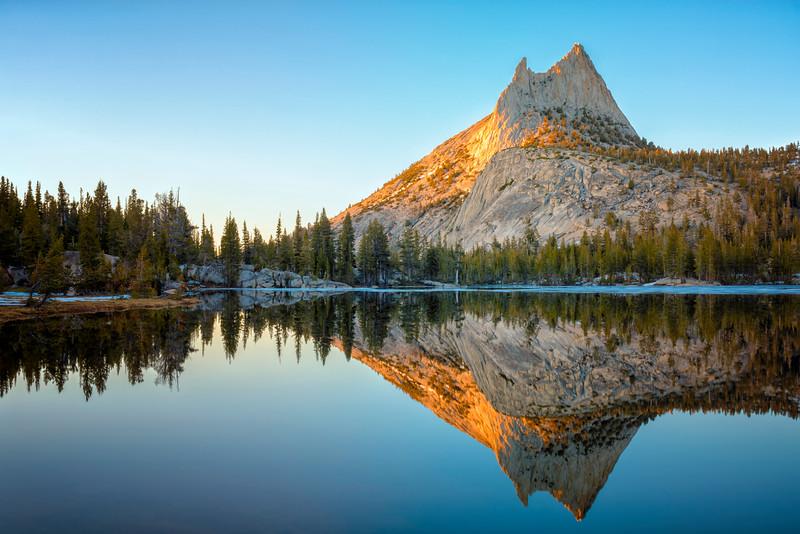 Cathedral Peak Sunset Reflection - Yosemite-10