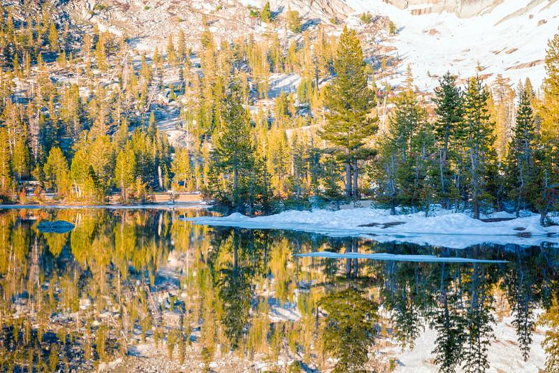 Upper Cathedral Lake Sunset Reflection - Yosemite-3