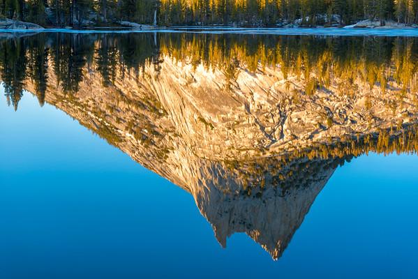 Cathedral Peak Sunset Reflection - Yosemite-6
