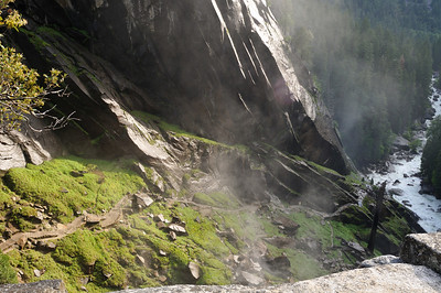 Trail and 600 steps up to Vernal Falls