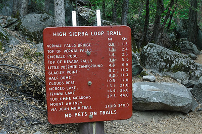 Entrance to Vernal Falls trail