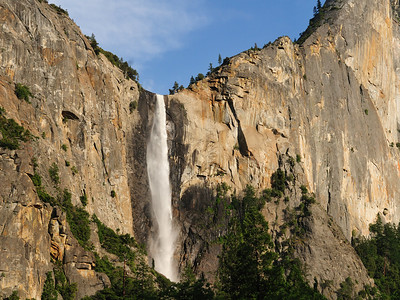 Bridal Veil Falls - the wind blows the water around giving it the appearance of a bride's veil.
