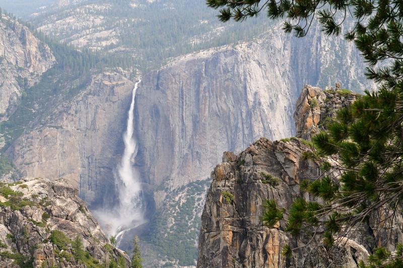 Upper Yosemite Falls from Sentinel Dome trail