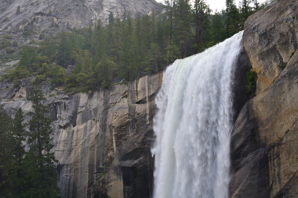 Near the top of Vernal Falls