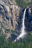 "Bridal Veil Falls as photographed from the ""Tunnel View"" overlook."