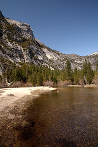 Merced River below Half Dome.  (this image and the next three will stitch together for a panorama)
