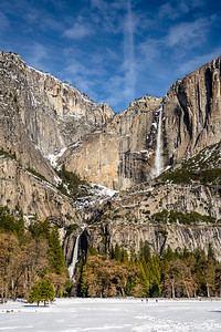 Yosemite Falls in Yosemite National Park in February 2019.