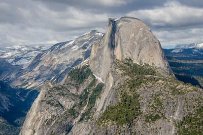 Half Dome from Glacier Point in Yosemite National Park, May 2017.
