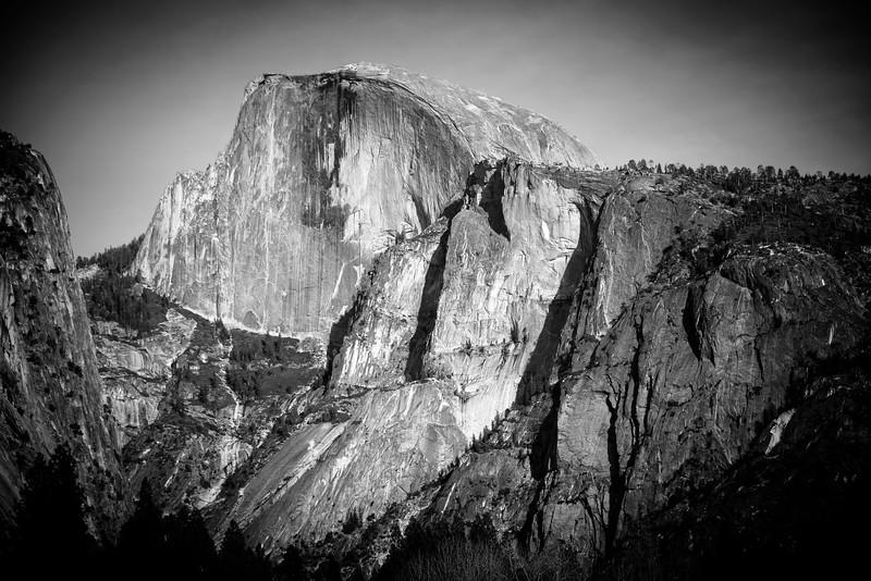 Half Dome, Yosemite National Park, CA, March 2015.