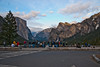 """The """"Tunnel View Overlook"""" is a popular place for photographers at sunset (note all the tripods)."""