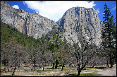 Waterfalls at the Yosemite Valley, Spring