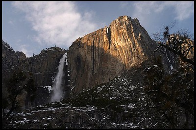 Upper Yosemite Fall, Winter Sunset