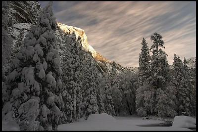 Mt. Watkins near Mirror Lake, Winter Sunrise