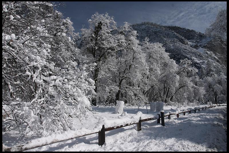 Yosemite Valley with Fresh Winter Snow