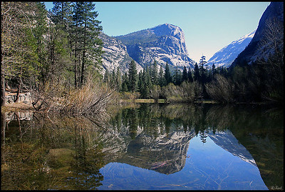 Mirror Lake, North Dome Reflections