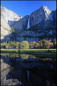 Reflection of the Yosemite Falls