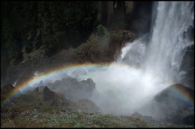 Rainbow and Vernal Fall, on the Mist Trail