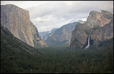 Yosemite Valley from Tunnel View, Clouds Clearing at Sunset