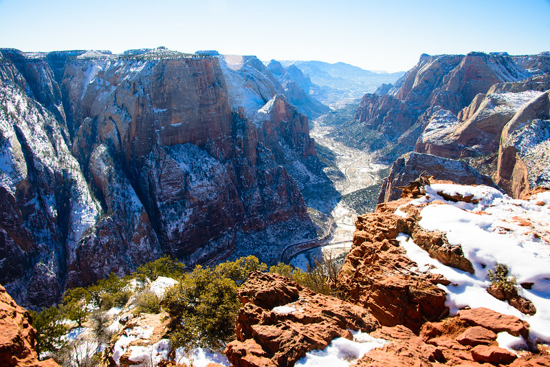 Observation Point, Zion National Park, Utah, January 2015.