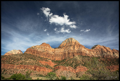Granite Walls and Sky, Zion National Park