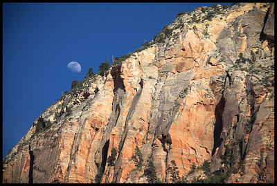 Sunset and Moon Rise, Zion National Park