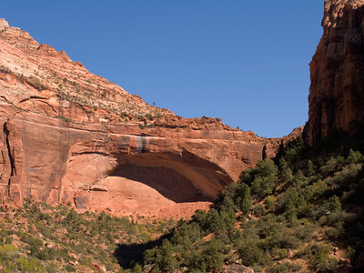 The Great Arch At Zion National Park, Utah