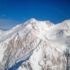 Aerial view of Denali (formely Mount McKinley) from 20,000 feet