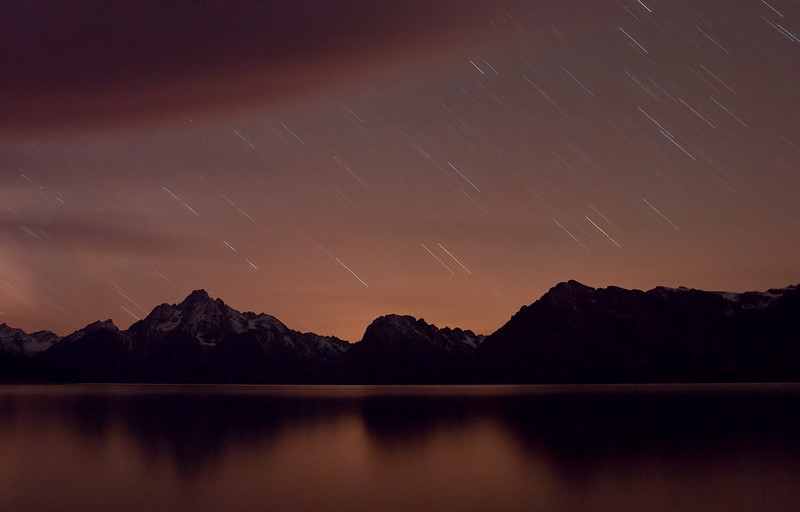 Star Trails Over Tetons