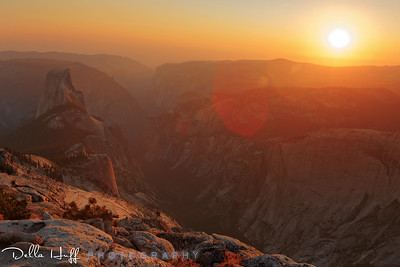 Golden Sunset from Clouds Rest, Yosemite National Park