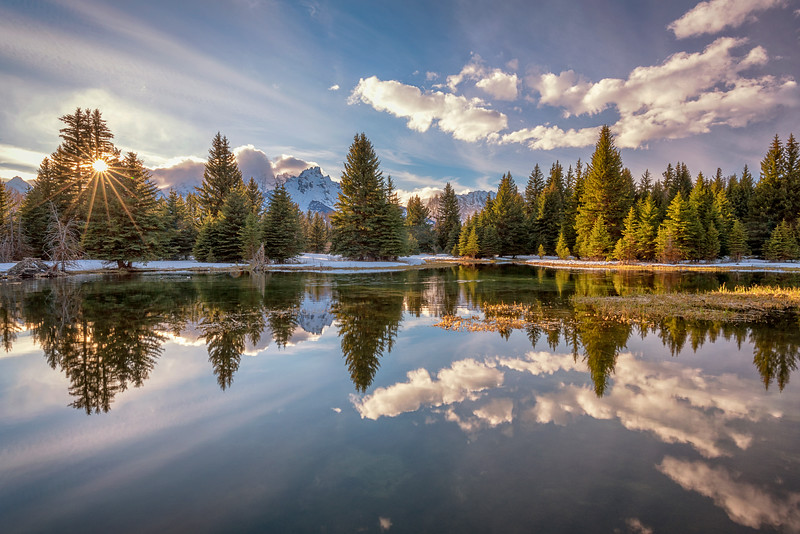 Cold Reflections at Schwabacher Landing