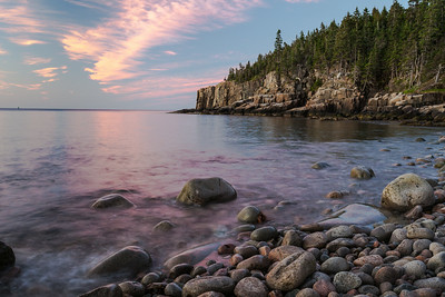 Colorful Sky at Boulder Beach, Acadia National Park