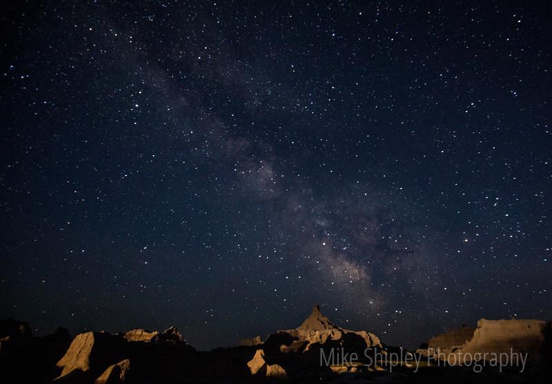 Milky Way Over Window Trail