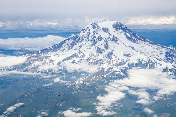 Mt. Rainier from above