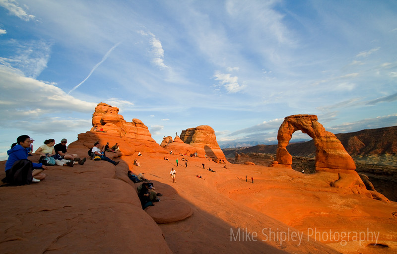 Sunset Show at Delicate Arch, Arches National Park