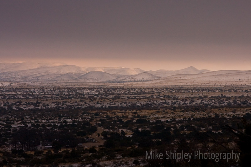 Snow Storm in Coming, Guadalupe Mountain National Park