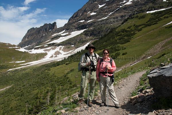 Enjoying the High Line Trail - Glacier National Park
