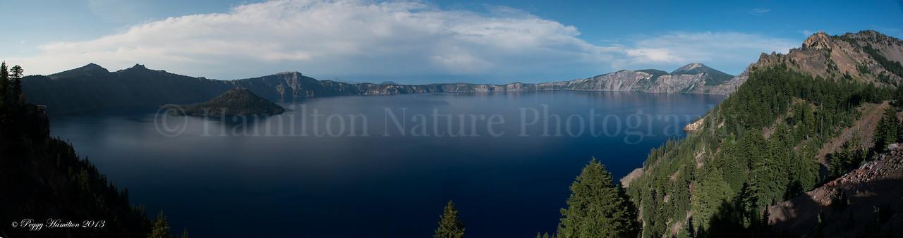 Panoramic View of Crater Lake - Crater Lake National Park