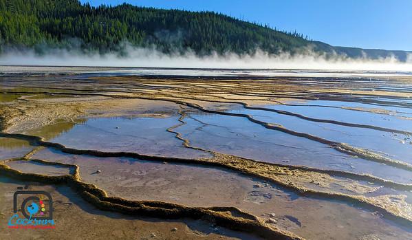 Yellowstone hot spring, Montana