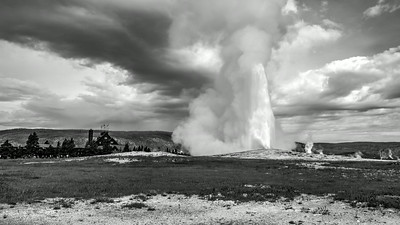 Old Faithful B&W