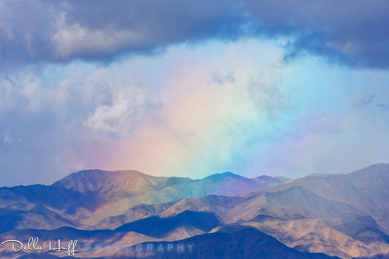 Rainbow in the Desert, Death Valley National Park