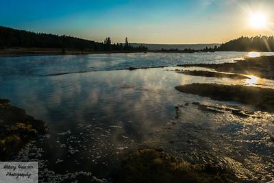 Geyser Basin Sunset