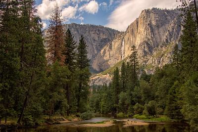 Merced River and Upper Yosemite Falls