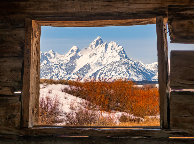 Cunningham Cabin View at Grand Teton National Park, Wyoming